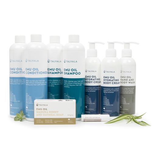Wash Special Pack One: 2 Shampoo, 2 Conditioner, 2 Hydrating Body Cream, 1 Body Wash, 1 Soap, 1 Lip Balm