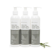 3 x Emu Oil Hand & Body Wash 250ml