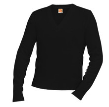 V-Neck Long Sleeve Pullover - Atonement (incl embr)