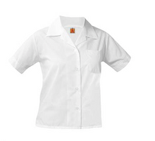Pointed collar blouse, embroidered (Atonement)