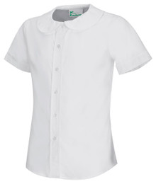 Girl's Peter Pan Broadcloth Blouse, Classroom (Youth sizes only)