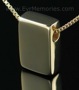 Gold Vermeil Sliding Rectangle Urn Necklace