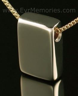 14K Gold Sliding Rectangle Memorial Locket