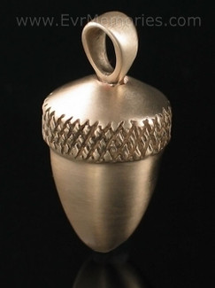 Brass Acorn Cremation Keepsake