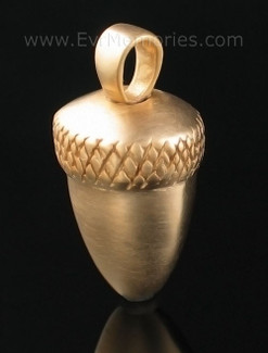 Gold Vermeil Acorn Urn Necklace