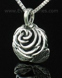 Sterling Silver Rose Cremation Cremation Urn Keepsake