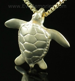 Gold Vermeil Sea Turtle Jewelry Urn