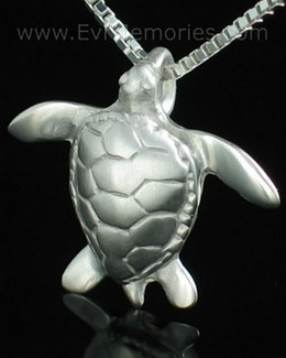 Sterling Silver Sea Turtle Cremation Keepsake