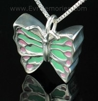 Sterling Silver Butterfly Memorial Locket