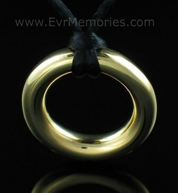 Gold Vermeil Eternity Jewelry Urn