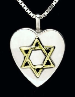 Star of David Urn Necklace - Silver/14K