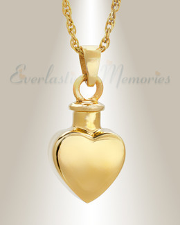 Small Heart Pendant 14K Gold Plated Memorial Locket