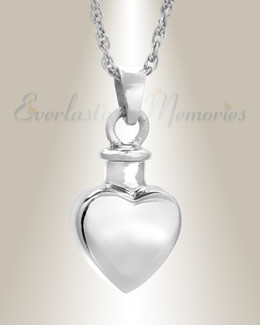 Small Heart Sterling Silver Urn Keepsake