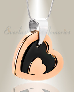 Rose Gold Honesty Heart Necklace Urn