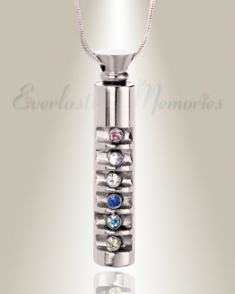 Stainless Marvel Cylinder Cremation Jewelry