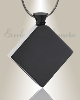 Black Quaint Diamond Urn Pendant