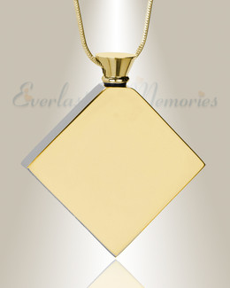 Gold Plated Quaint Diamond Urn Pendant