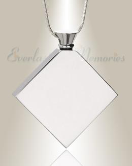 Silver Quaint Diamond Urn Pendant
