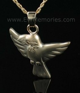 14K Gold Plated Dove Open Wings Jewelry Urn