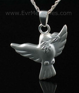 Dove Open Wings Funeral Jewelry