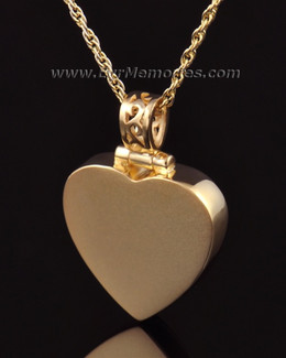 14K Gold Grand Heart Funeral Jewelry