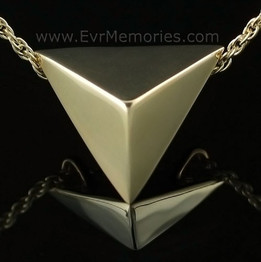 14K Gold Plated Triangle Jewelry Urn