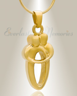 14K Gold Plated Two People Cremation Keepsake
