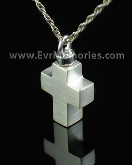 Sterling Silver Mini Cross Jewelry Urn