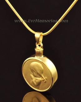 "14k Gold ""Girl"" Jewelry Urn"