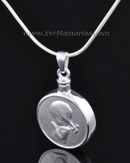 "Sterling Silver ""Girl"" Funeral Jewelry"