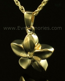 14K Gold Flower Memorial Locket