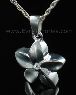 Sterling Silver Flower Funeral Jewelry