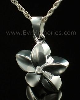 14K White Gold Flower Urn Keepsake
