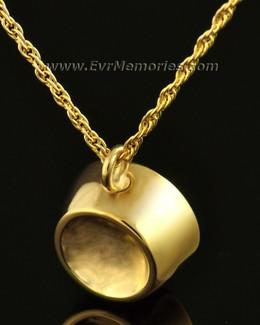 14K Gold Dish Cremation Urn Keepsake