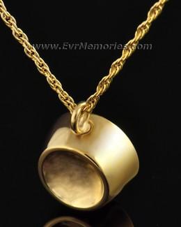 14K Gold Plated Dish Cremation Urn Keepsake