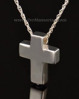 14k White Gold Sterling Silver Sliding Cross Urn Keepsake