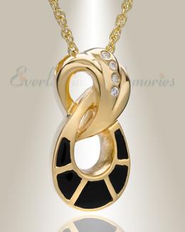 14K Gold Plated Everlasting Infinity Urn Keepsake