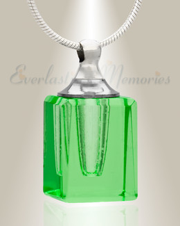 Glass Locket Green Contentment Jewelry Urn