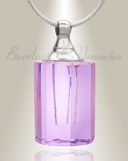 Glass Locket Violet Loving Keepsake Cremation Jewelry