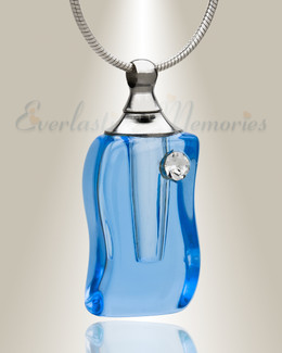 Glass Locket Cool Waters Urn Jewelry