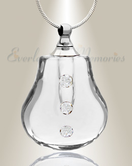 Glass Locket Clear Trickle Memorial Pendant