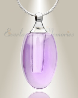 Glass Locket Violet Evermore Keepsake Jewelry