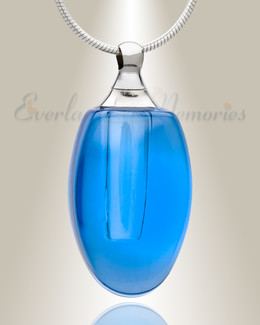 Glass Locket Blue Evermore Memorial Locket