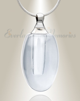Glass Locket Clear Evermore Keepsake Urn Jewelry