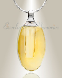 Glass Locket Yellow Evermore Jewelry Urn
