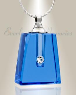 Glass Locket Blue Tribute Locket Jewelry