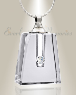 Glass Locket Clear Tribute Cremation Necklace