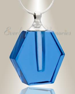 Glass Locket Blue Integrity Memorial Pendant
