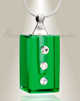 Glass Locket Emerald Reliable Locket Necklace