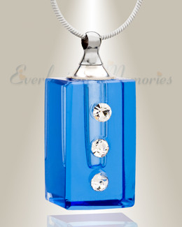 Glass Locket Blue Reliable Necklace Urn